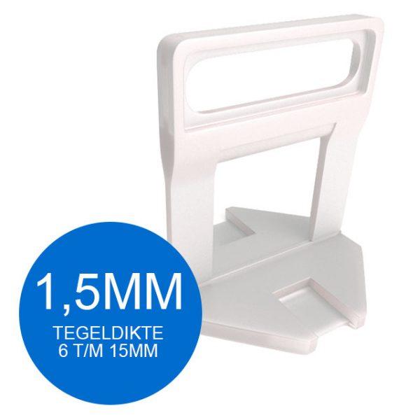 Levelling Clips Lang - 1,5 mm - Vanaf 100 stuks