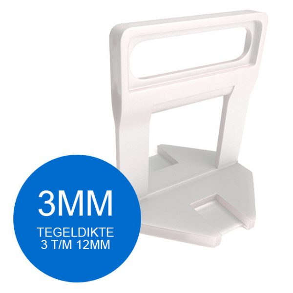 Levelling Clips - 3 mm - Vanaf 100 stuks